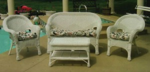 Natural Wicker Set