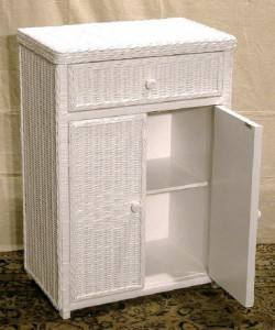 Wicker Towel Cabinet
