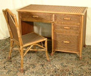 Wicker Desk
