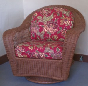 Resin Wicker Swivel Glider Chair