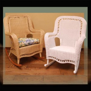 Natural Wicker Rocker