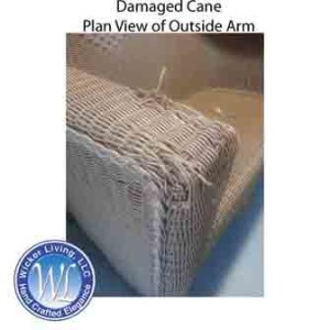 Damaged Wicker Cane