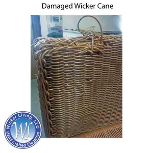Damaged Wicker Furniture Cane