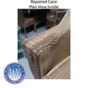 Wicker Cane Repair of Love Seat Arm