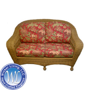 Deep Seating Wicker Loveseat
