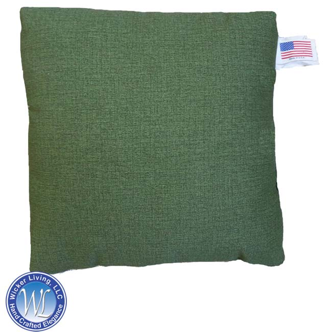 Green Square Throw Pillow