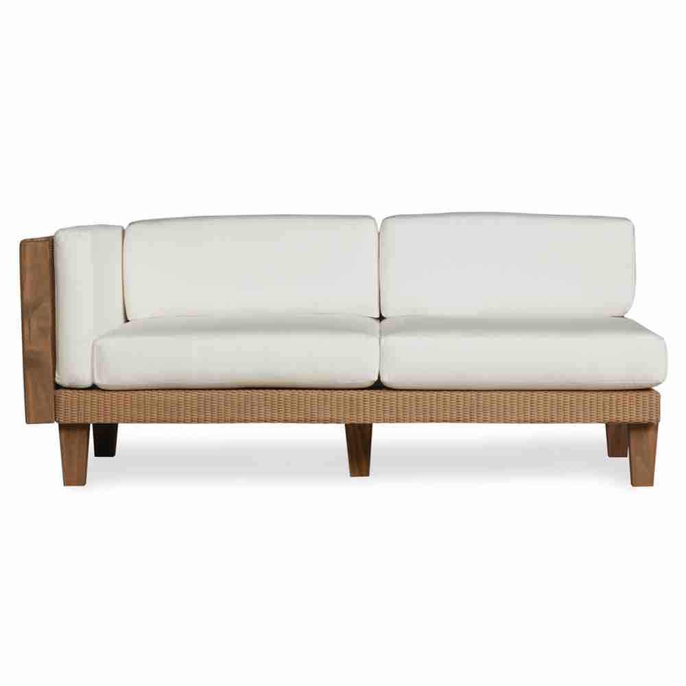 Lloyd Flanders Right Arm Wicker Settee