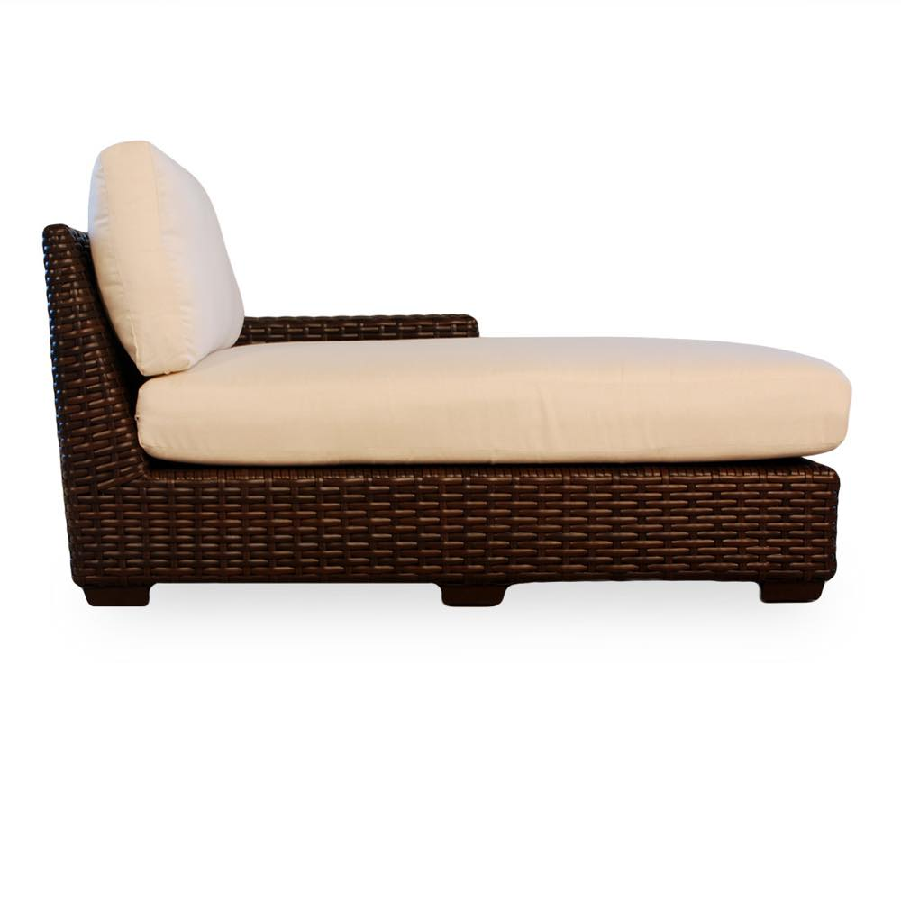 Lloyd Loom Contempo Outdoor Wicker Left Arm Chaise Lounge