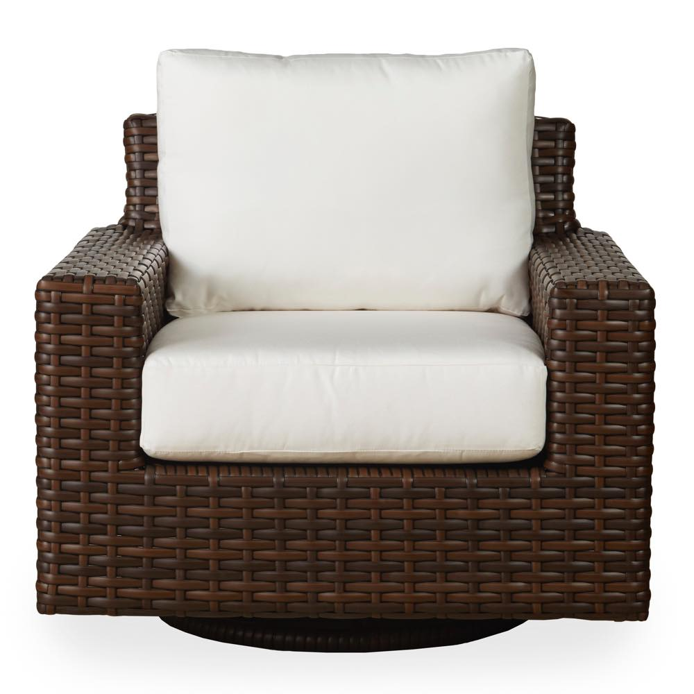 Lloyd Loom Contempo Outdoor Wicker Swivel Glider Lounge Chair