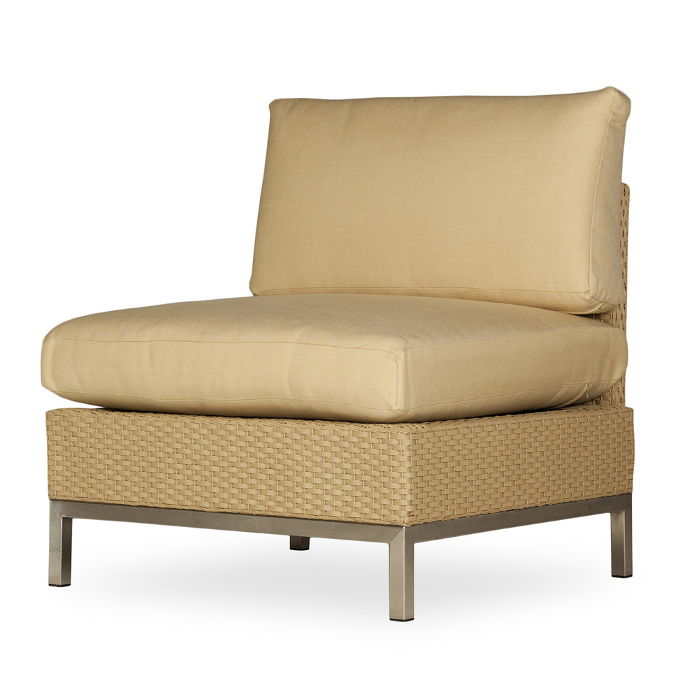 Nice Lloyd Flanders Elements Armless Lounge Chair With Stainless Steel Frame