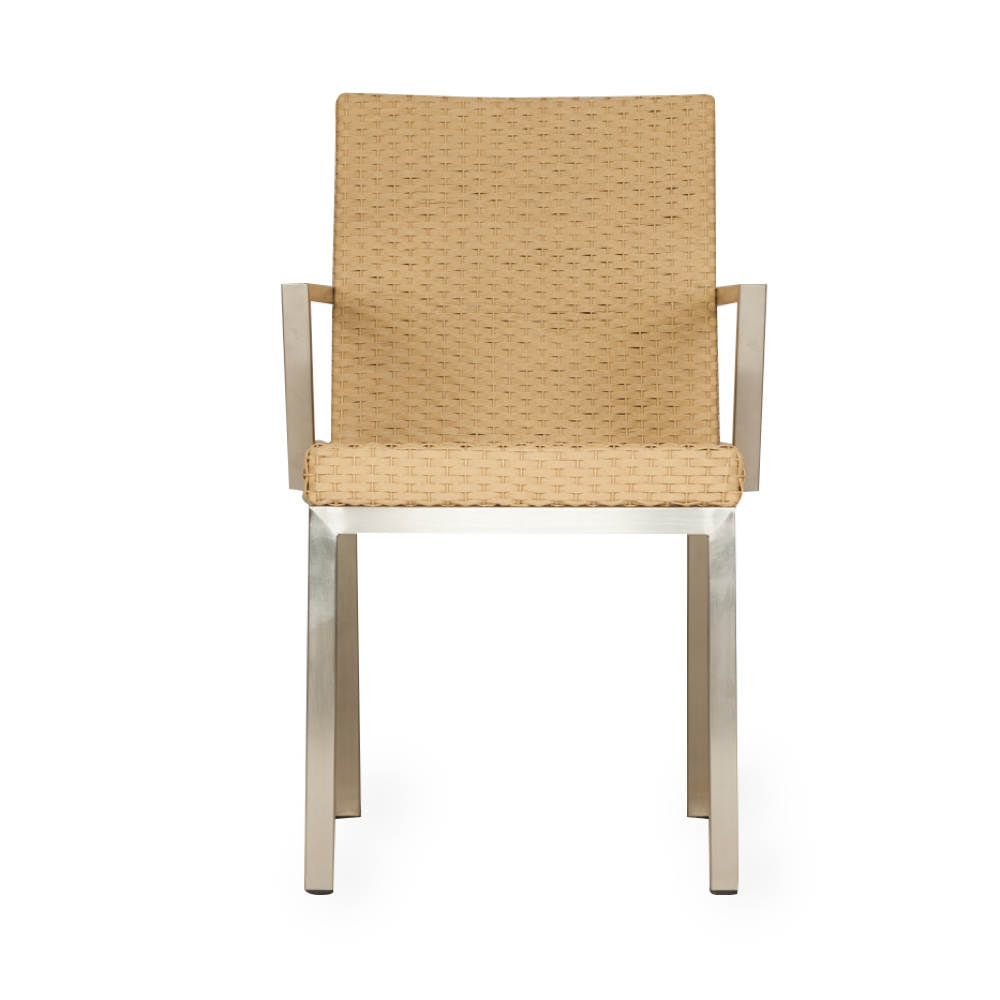 Lloyd Flanders Elements Dining Chair With Stainless Steel Arms