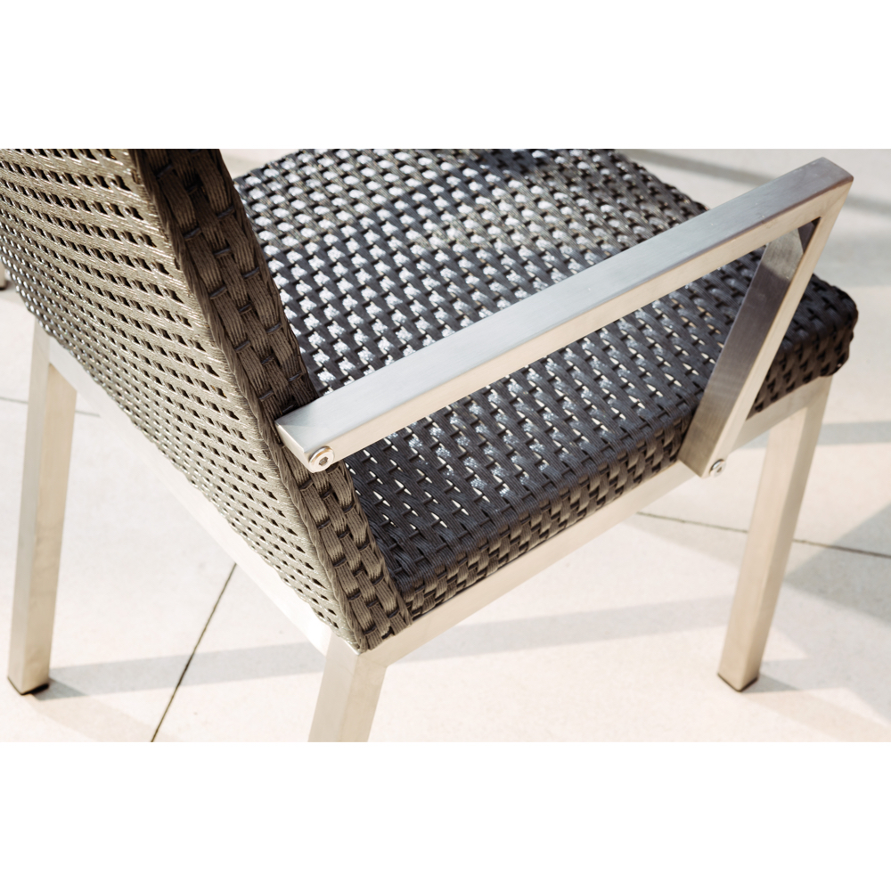 Elements Dining Chair View Of Wicker Weave