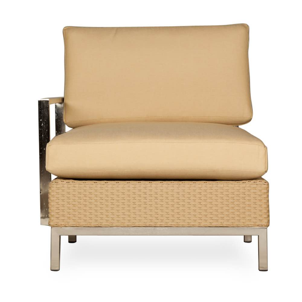 Outdoor Wicker Sectional Right Arm Chair - Lloyd Flanders Elements Collection