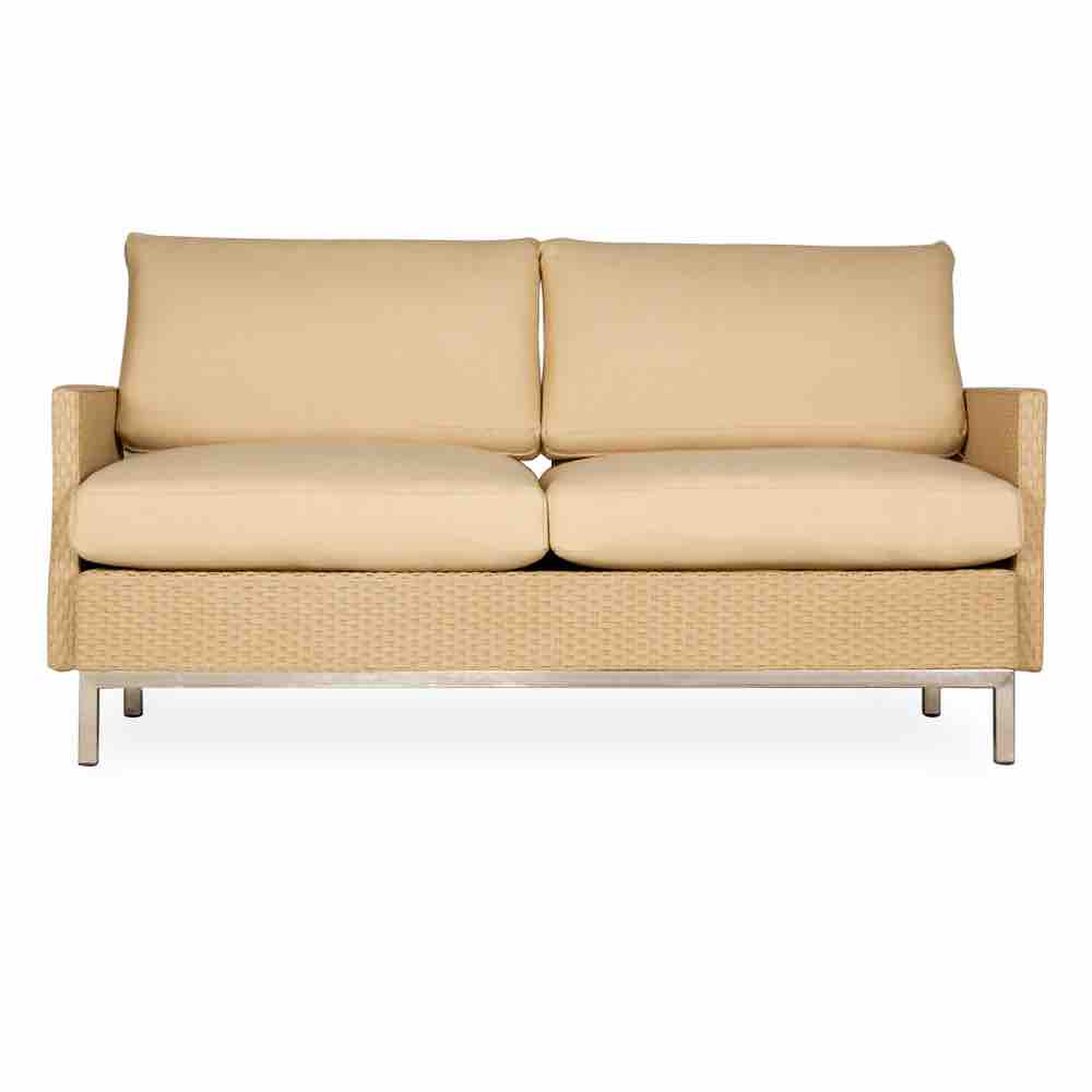 Lloyd Loom Elements Settee with Loom Arms and Back