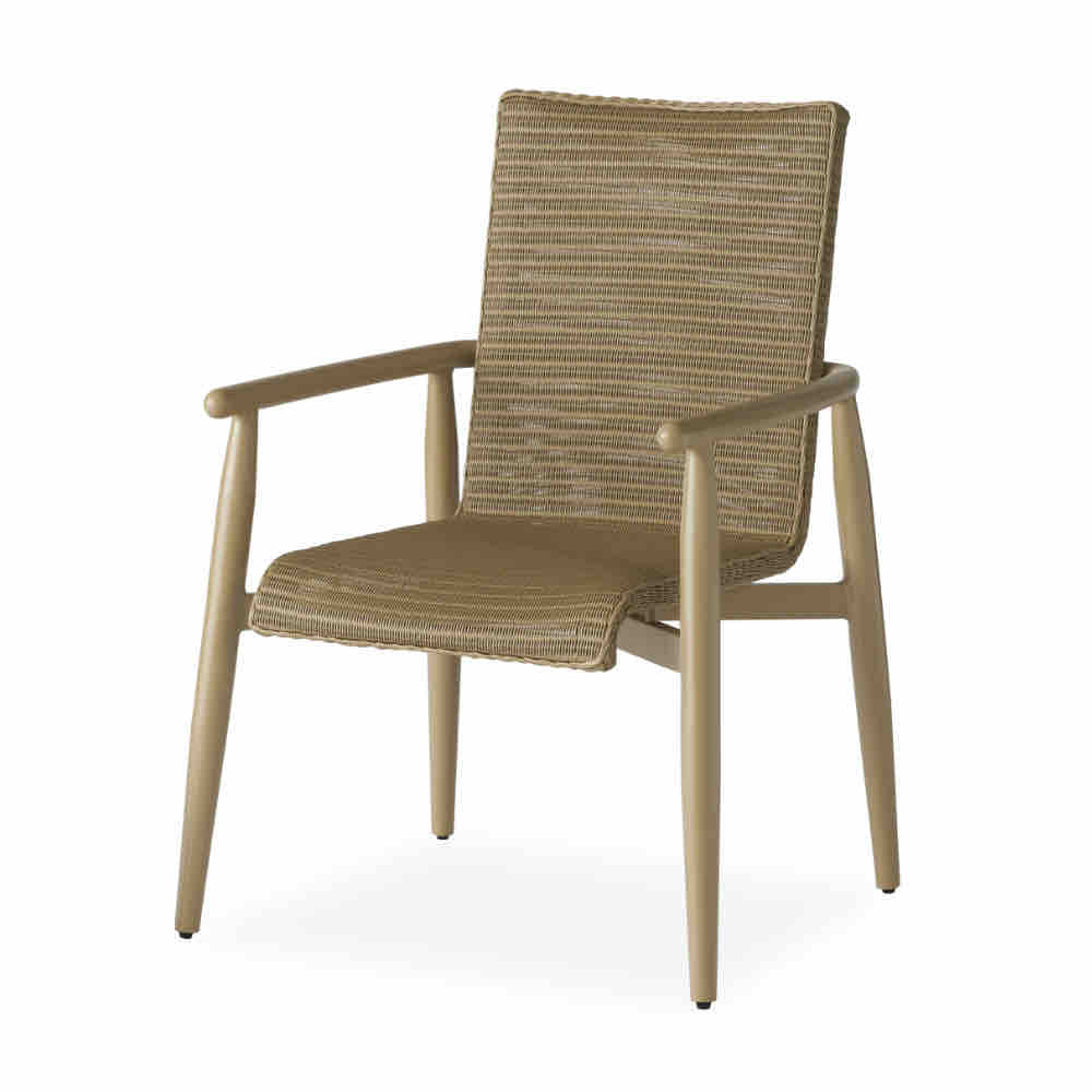 Lloyd Flanders Fairview Dining Arm Chair Outdoor Wicker Furniture