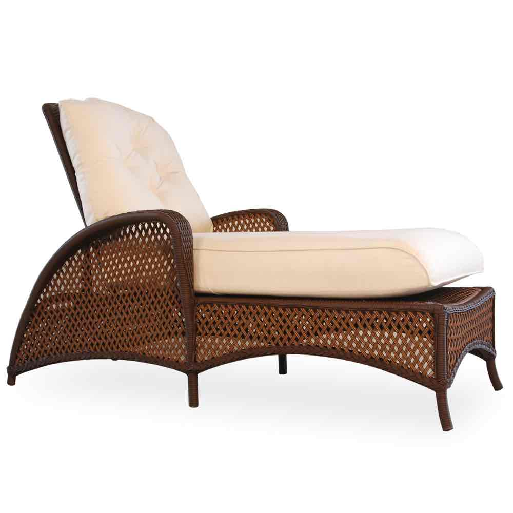 Lloyd Flanders Grand Traverse Outdoor Wicker Chaise Lounge