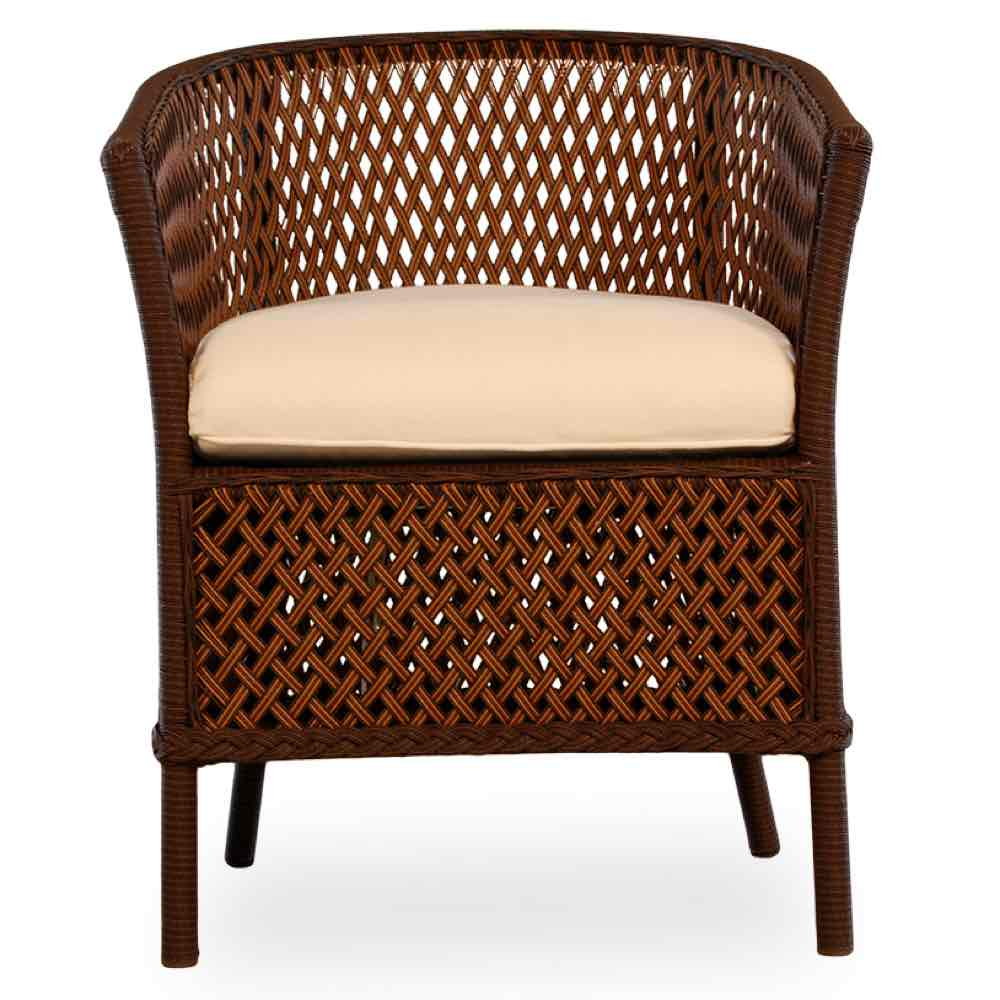 Lloyd Flanders Grand Traverse All Weather Barrel Wicker Dining Chair