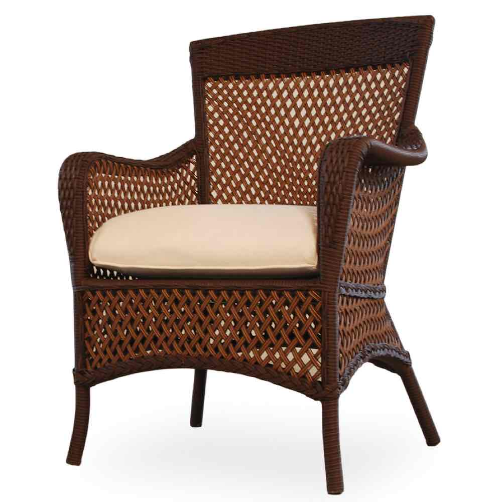 Lloyd Flanders Grand Traverse All Weather Wicker Dining Armchair