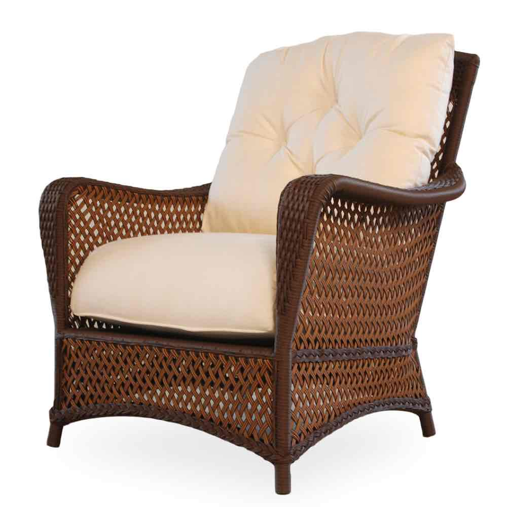 Lloyd Flanders Grand Traverse All Weather Deep Seating Wicker Lounge Chair
