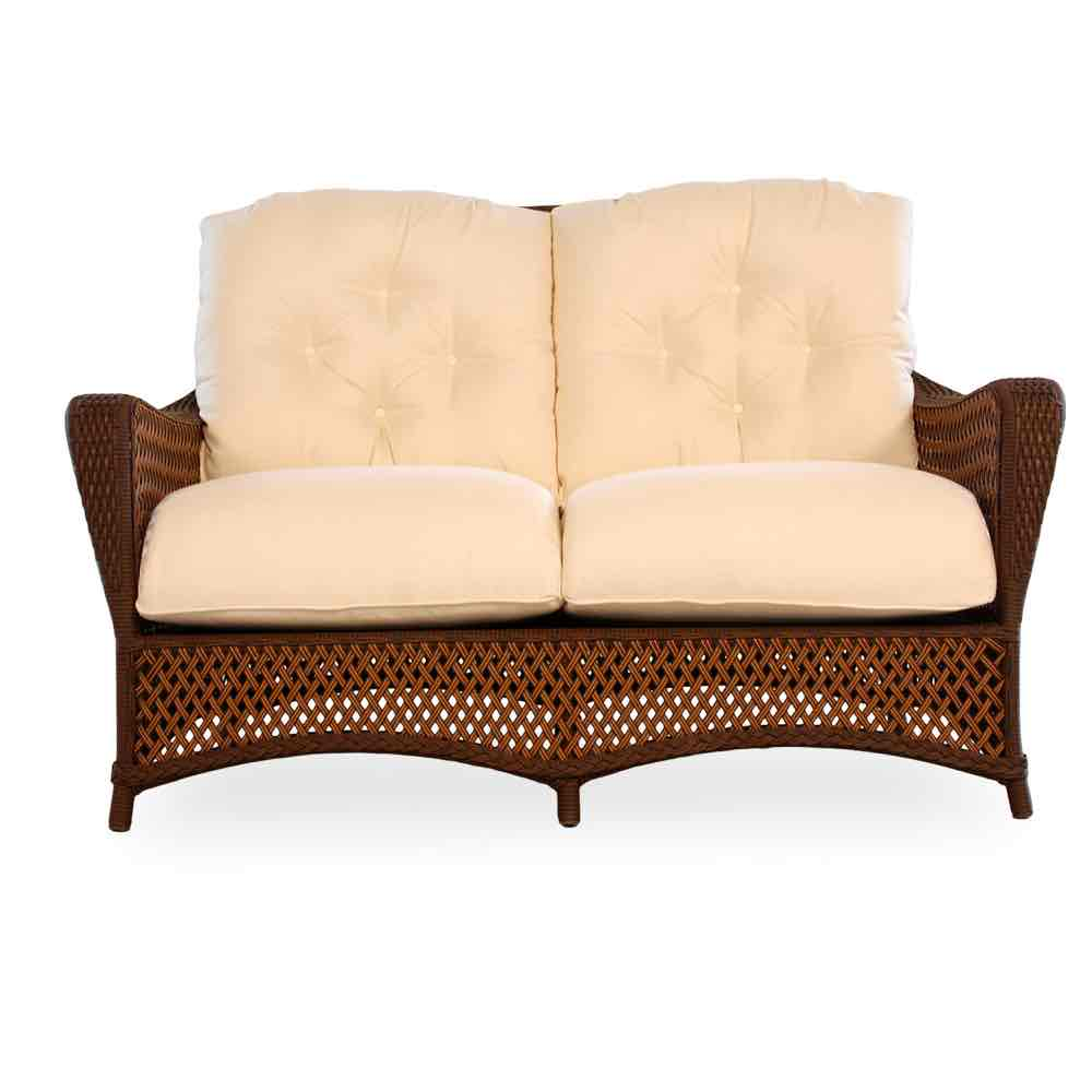 Lloyd Flanders Grand Traverse Outdoor Wicker Loveseat