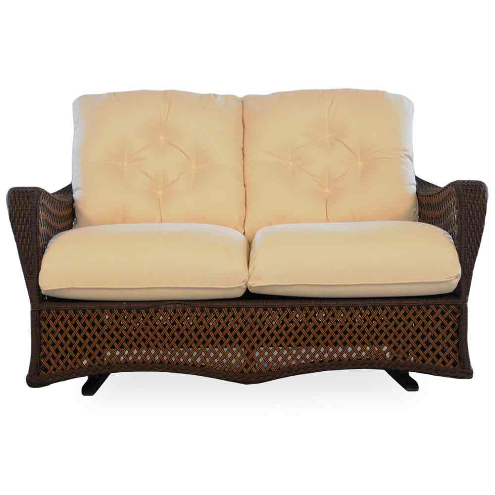 Lloyd Flanders Grand Traverse Outdoor Wicker Loveseat Glider