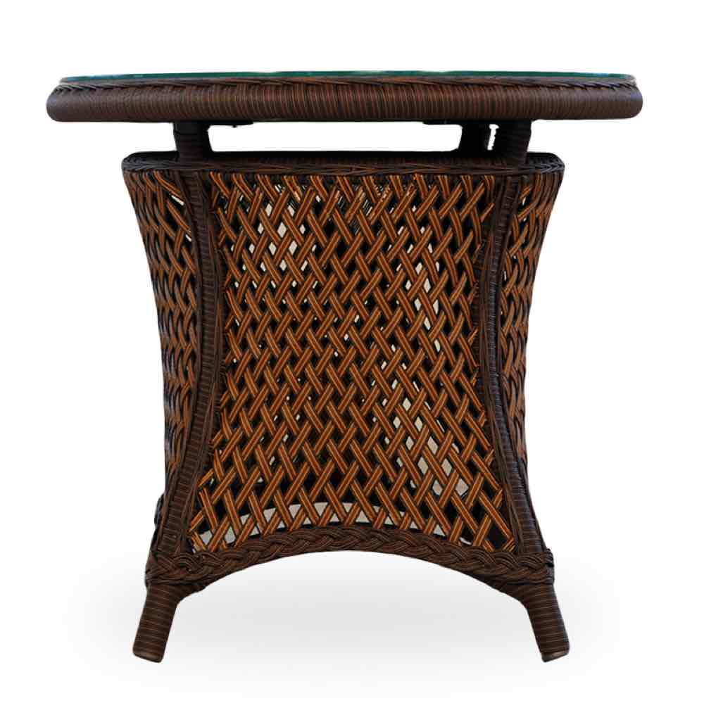 Lloyd Flanders Grand Traverse Round Wicker End Table