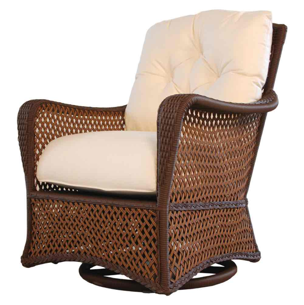 Lloyd Flanders Grand Traverse All Weather Wicker Swivel Glider Lounge Chair
