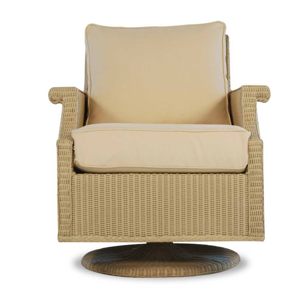 Lloyd Flanders Hamptons Swivel Rocker Wicker  Lounge Chair