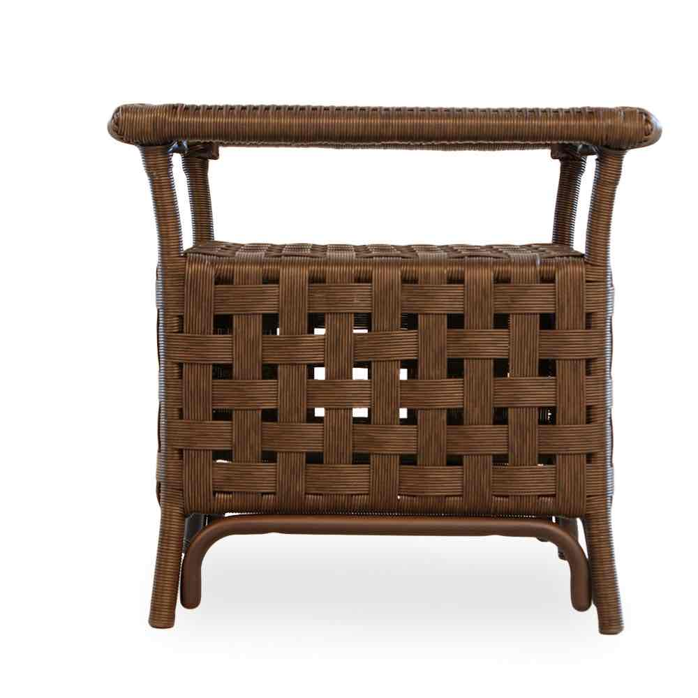 """Lloyd Flanders Haven 24"""" Square Resin Wicker End Table"""