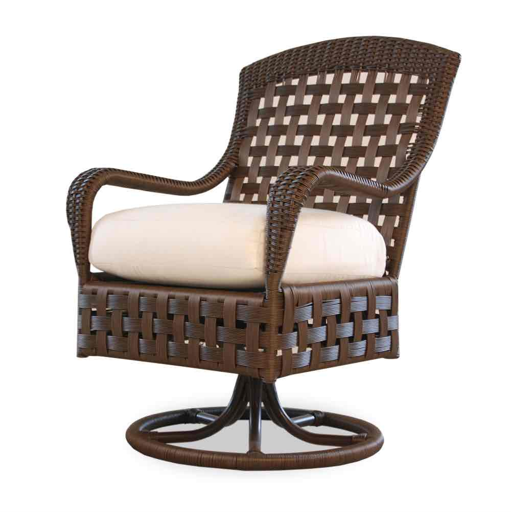 Wicker Swivel Chair Outdoor Dining Furniture