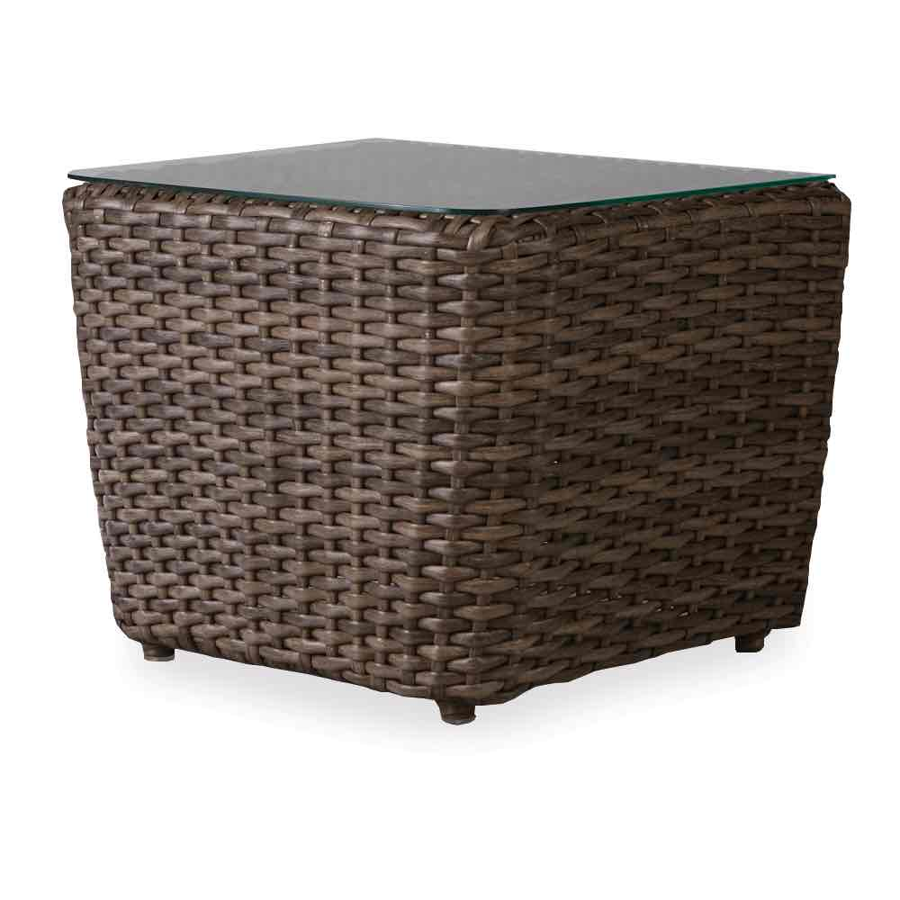 Lloyd Flanders Largo Rectangular Bunching Wicker Accent Table