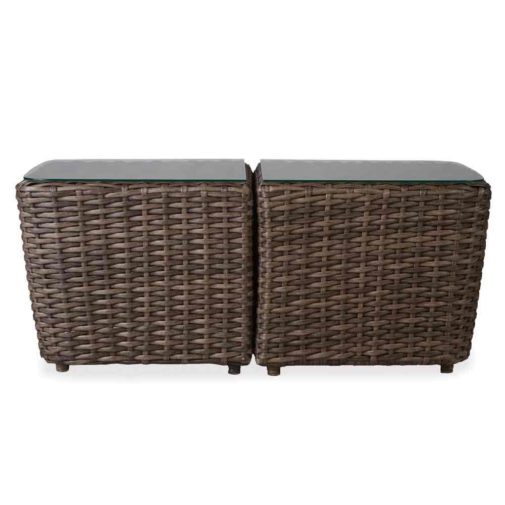 Lloyd Flanders Largo Rectangular Bunching Wicker Accent Tables