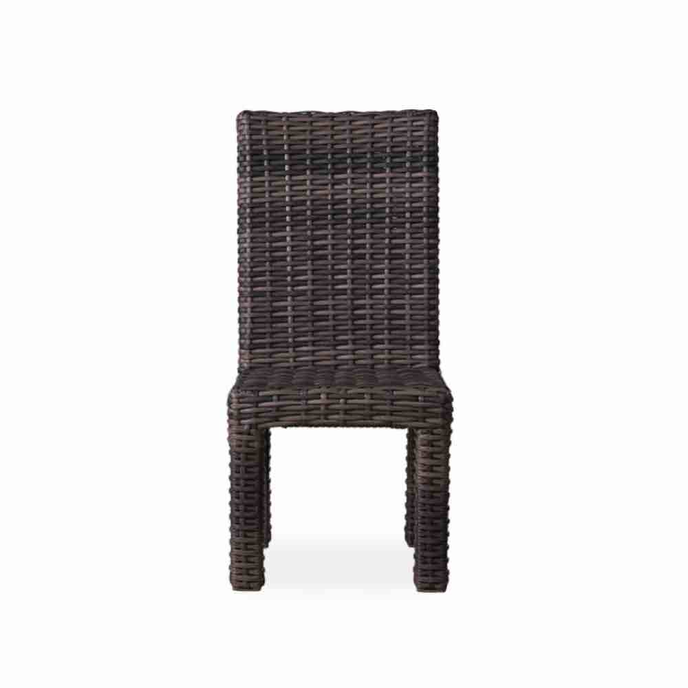 Lloyd Flanders Armless Wicker Dining Chair Shown With No Cushion