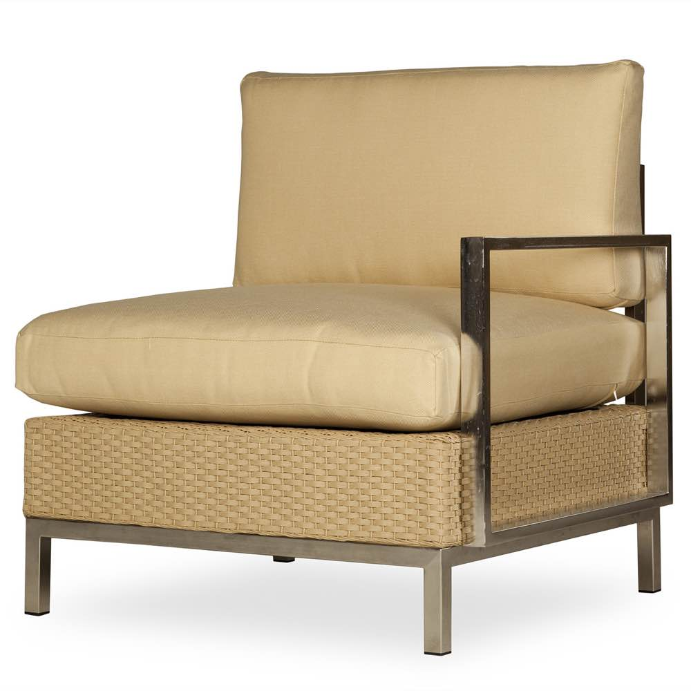 Outdoor Wicker -Lloyd Flanders Elements Left Arm Sectional Lounge Chair