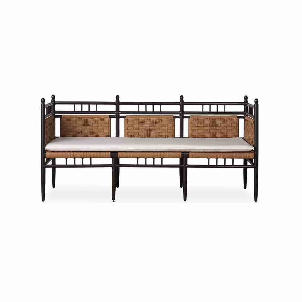 Lloyd Flanders Low Country Outdoor 3 Seat Resin Wicker Bench