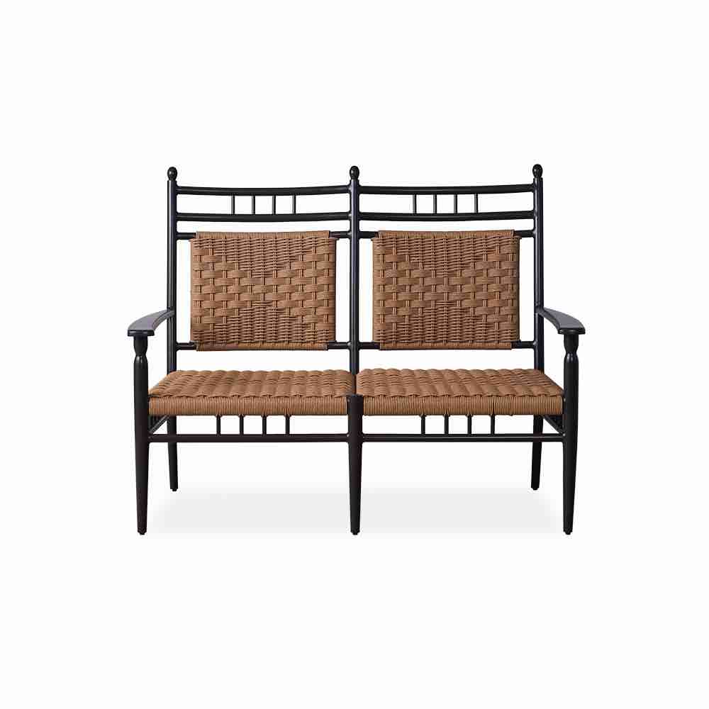 Lloyd Flanders Low Country Cushionless Wicker Settee