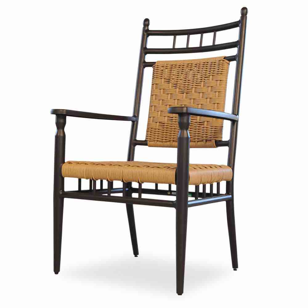Lloyd Flanders Low Country Outdoor Wicker Dining Arm Chair