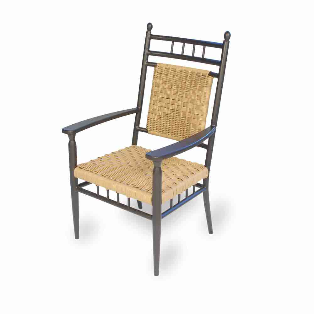 Lloyd Flanders Low Outdoor Dining Arm Chair