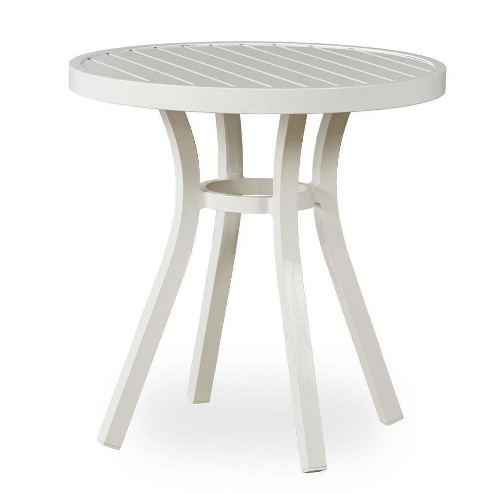 Lloyd Flanders Lux Aluminum Bistro Table With White Finish