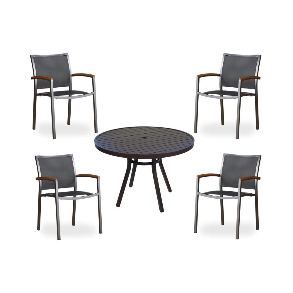 Lloyd Flanders Lux Sling Dining Chair U0026 Round Dining Table