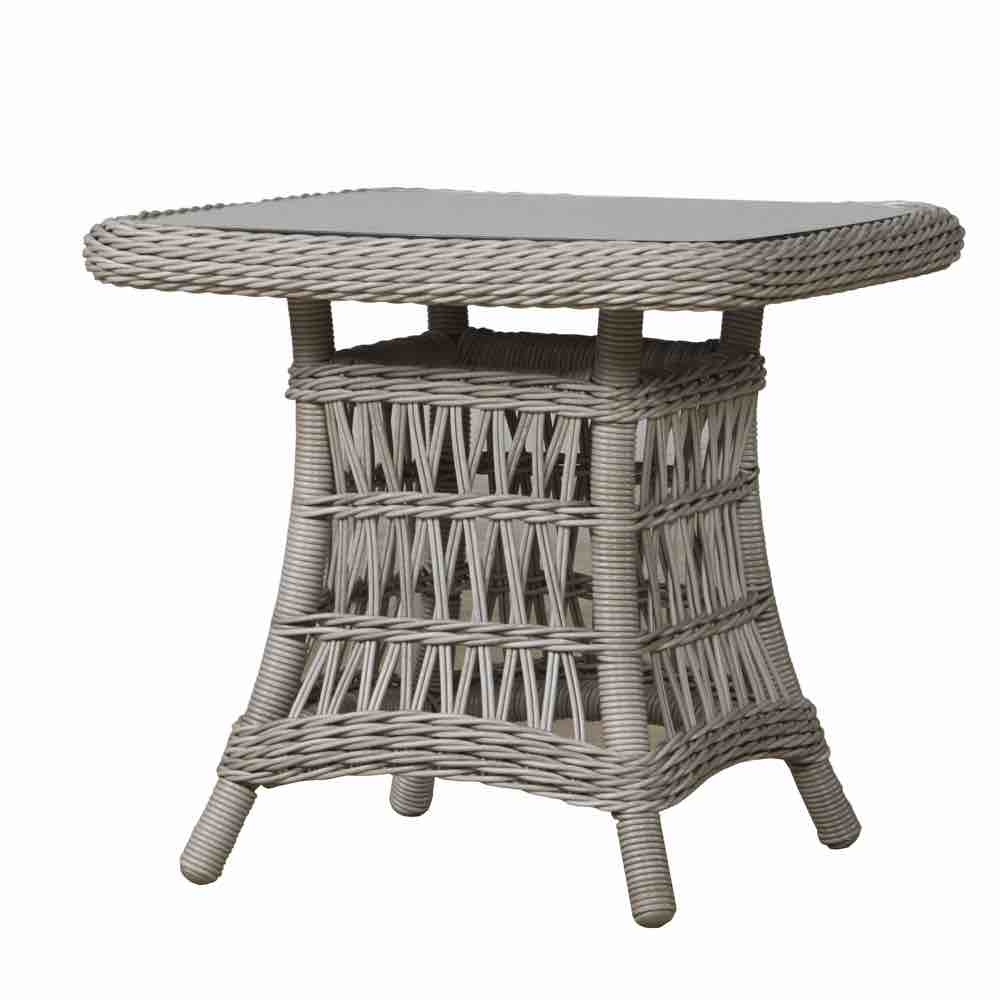 Lloyd Flanders Mackinac Outdoor Resin Wicker End Table With Woven Top