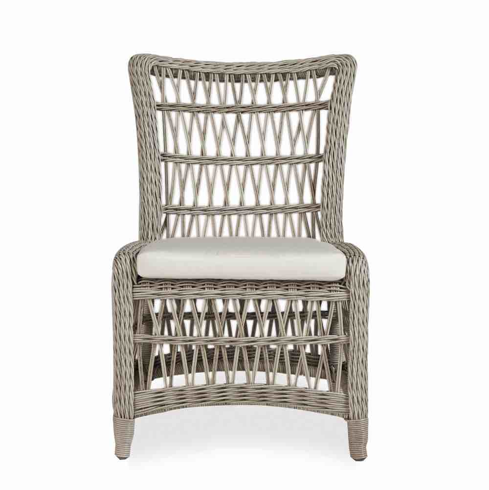 Armless Wicker Dining Chair