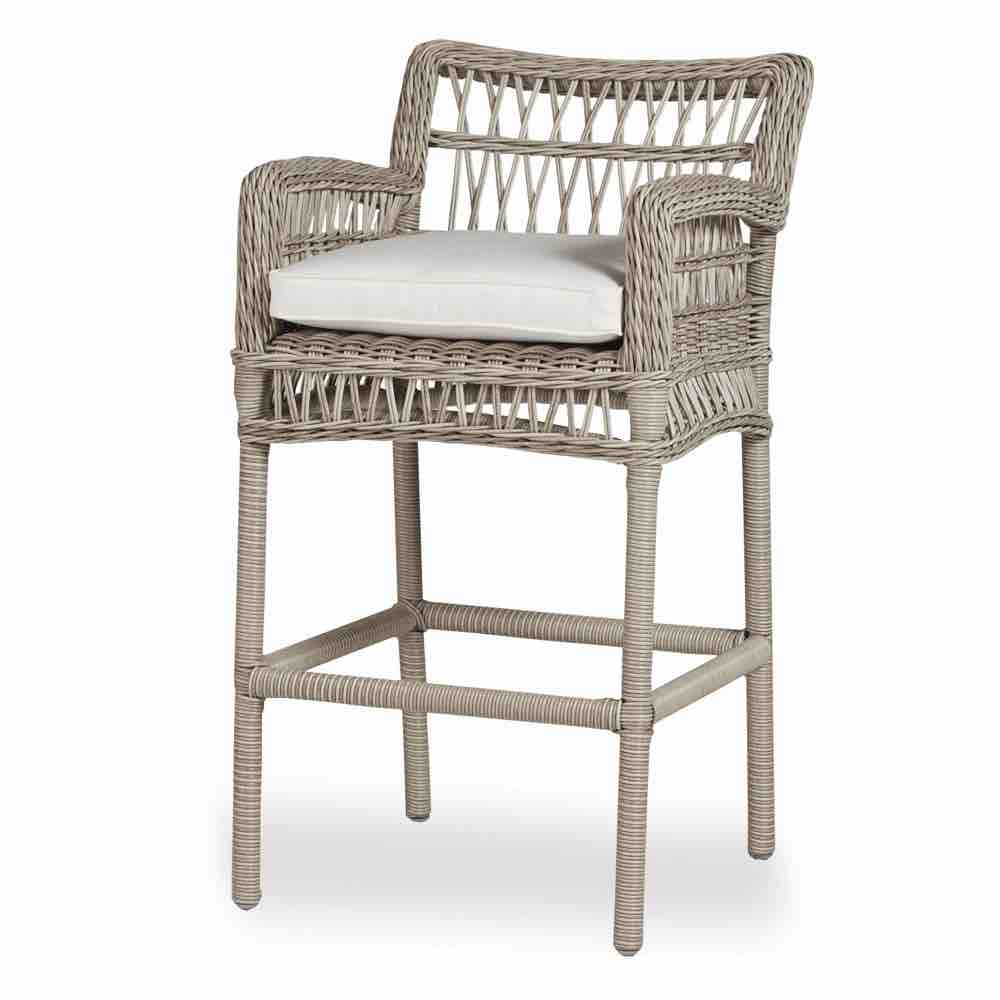 Lloyd Flanders Mackinac Outdoor Wicker Bar Stool