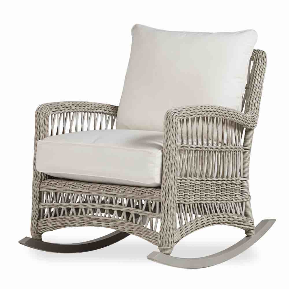 new styles f342a c7c2b Mackinac Outdoor Wicker Rocking Chairs