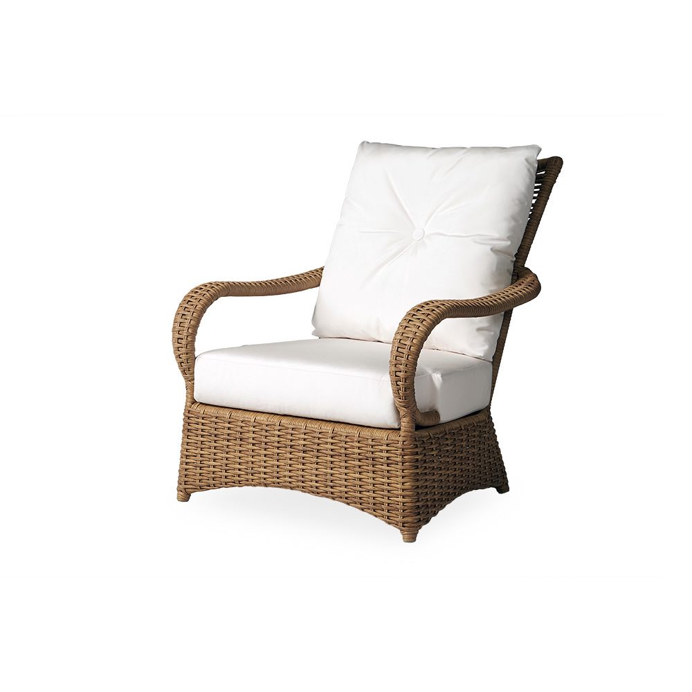 Lloyd Flanders Magnolia Vinyl Wicker Lounge Chair