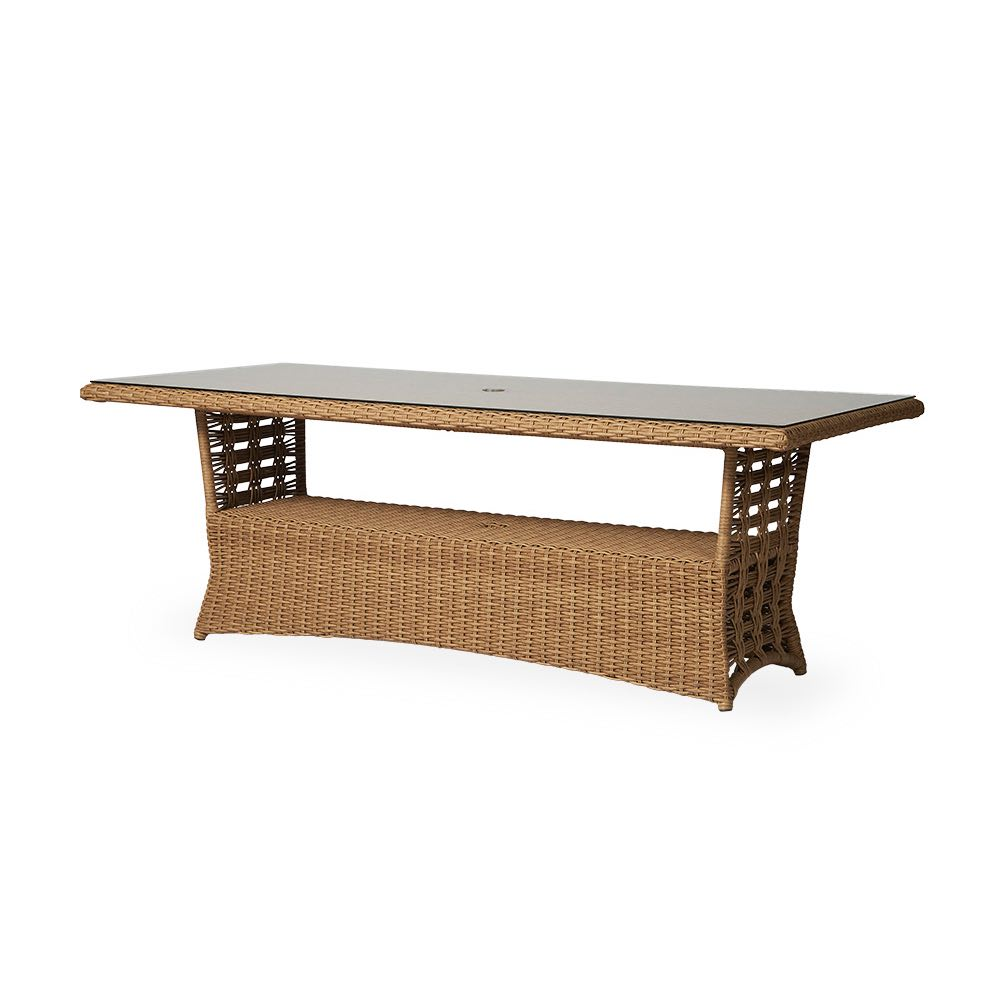 Lloyd Flanders Magnolia Rectangular Wicker Dining Table