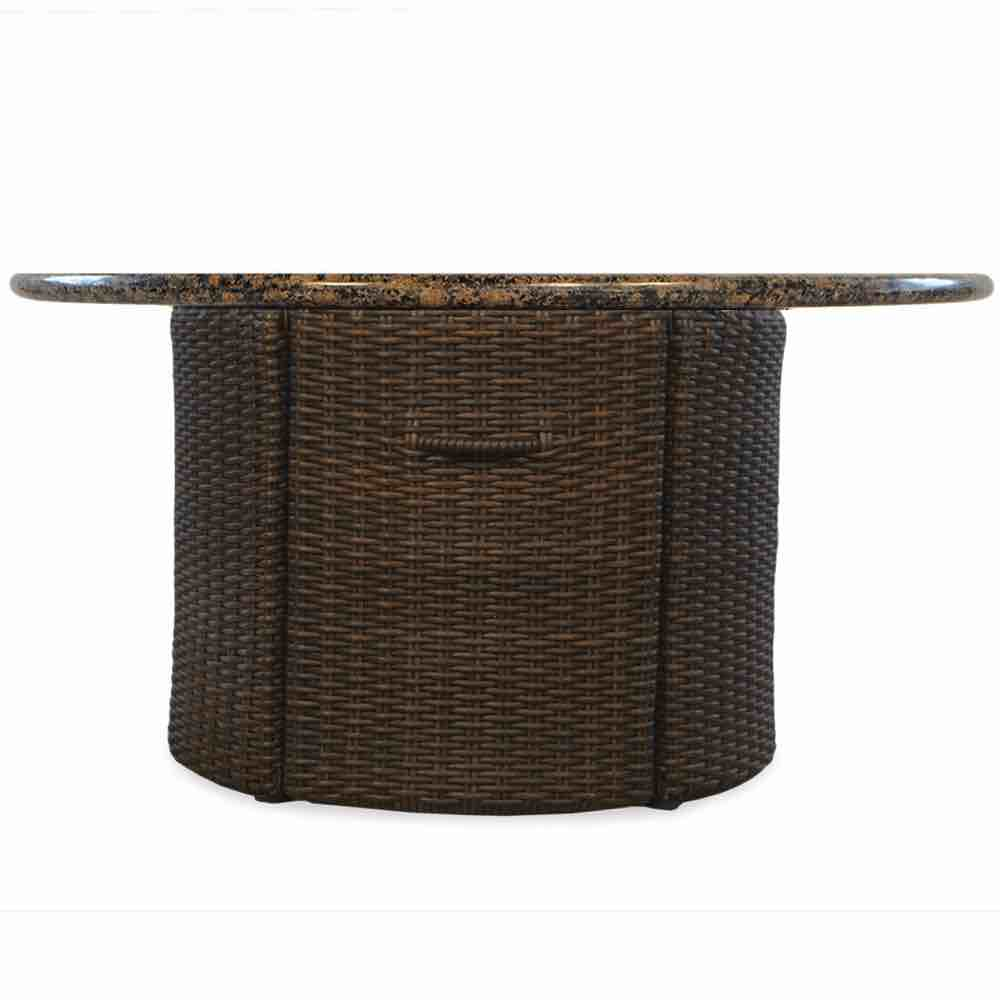 "Lloyd Flanders Mesa Wicker 48"" Round Fire Table"