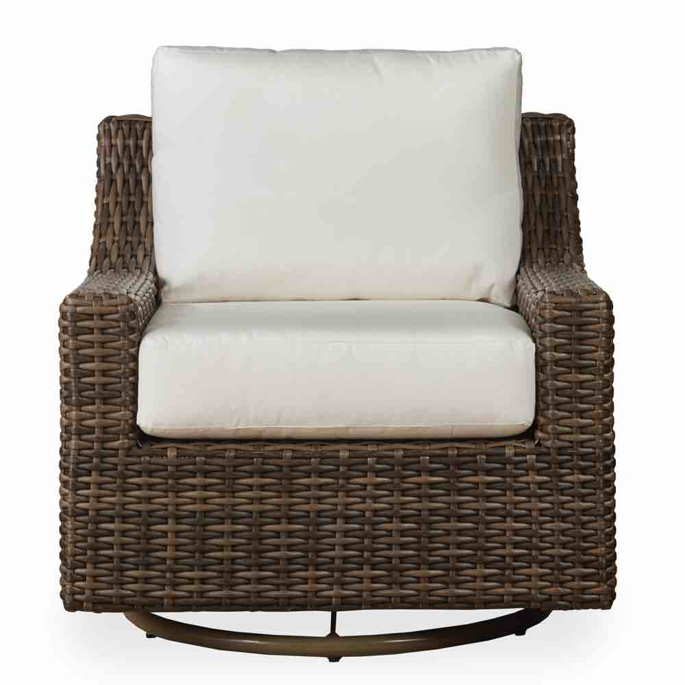 Lloyd Flanders Mesa Outdoor Wicker Swivel Glider Lounge Chair