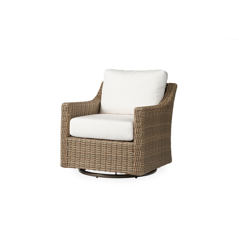 Lloyd Flanders Milan Outdoor Wicker Swivel Glider Lounge Chair