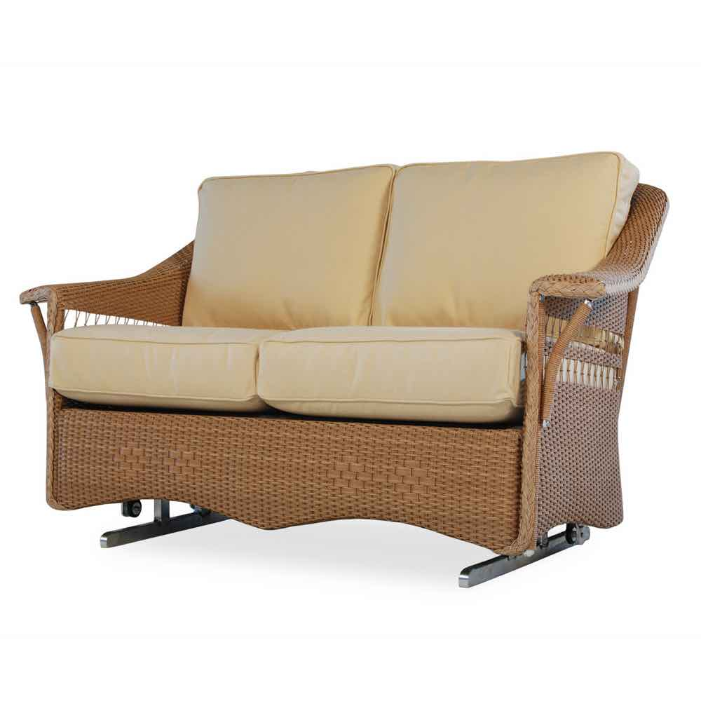 Lloyd Flanders Wicker Loveseat Glider